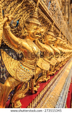 Architecture buddhist artwork spectacular temple  in thailand.