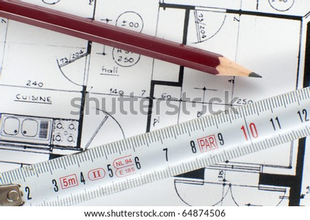 Architecture composition - stock photo
