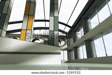 Architecture concept 3d render - stock photo