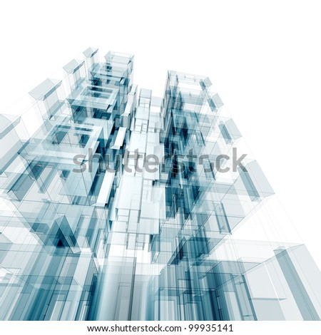 Architecture concept. Design and model my own - stock photo