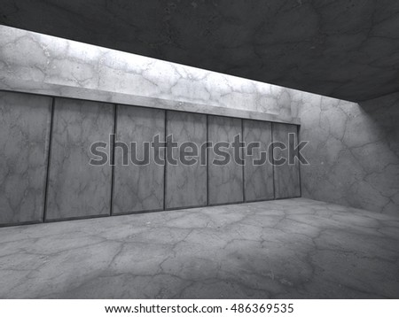 Architecture concrete walls construction background. Empty room. 3d render illustration