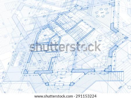 Architecture design blueprint house plans illustration stock architecture design blueprint house plans illustration malvernweather Choice Image