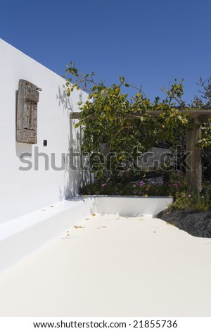 architecture detail at Cesar Manrique House and Foundation. Tahiche. Lanzarote, Canary Islands. Spain. - stock photo