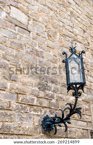 Architecture detail in Gothic district in Barcelona, Spain - stock photo