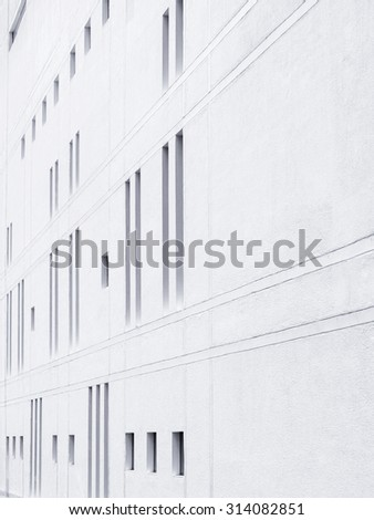 Architecture details Modern Wall pattern in perspective