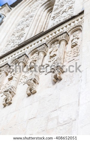 Architecture details of an ancient church