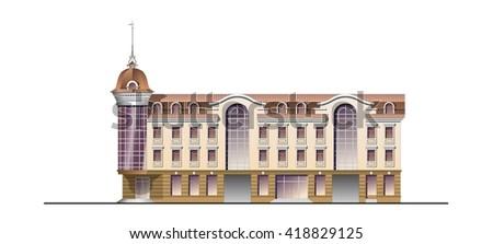 Architecture facade business centre - stock photo