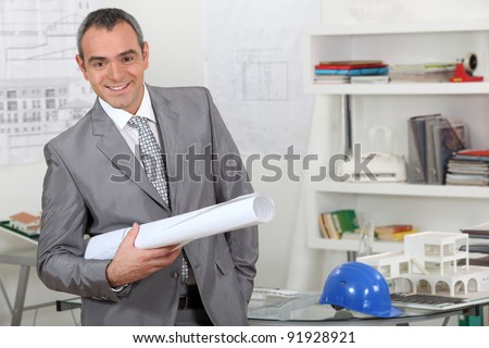 architecture firm director - stock photo