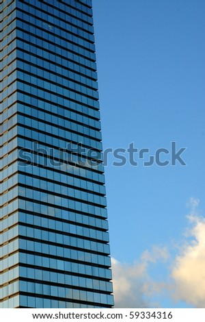 Architecture Image of a Tall Skyscraper With Copy Space - stock photo