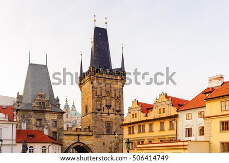 Architecture in the centre of Prague, Czech Republic