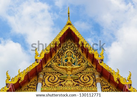 Architecture in the temple of thailand