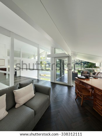 architecture interior of a modern house open space
