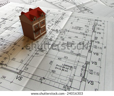 Architecture model house - stock photo