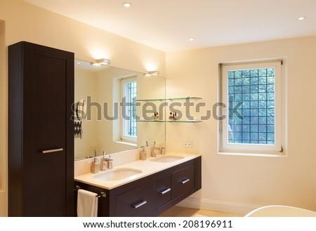 Architecture, modern bathroom - stock photo