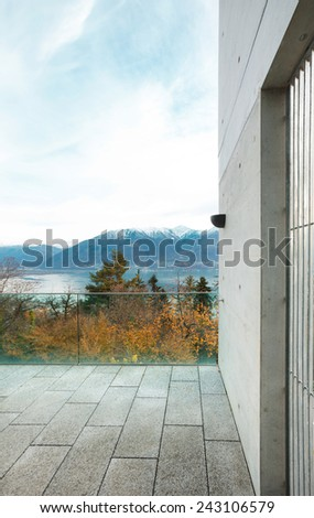 Architecture, modern building, view from the terrace - stock photo
