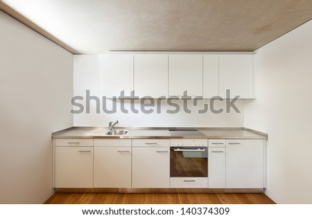 architecture modern design, home, view kitchen - stock photo