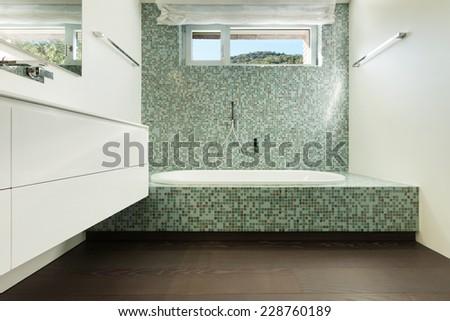 Architecture modern design, indoor of a bathroom - stock photo