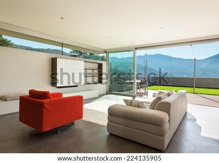 Architecture modern design, interior, living room  - stock photo