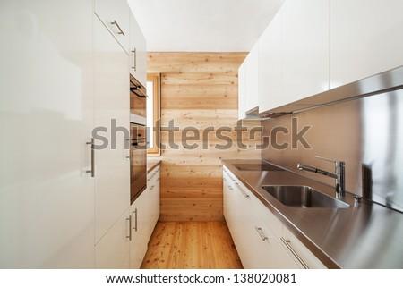 architecture modern design, mountain home, kitchen - stock photo