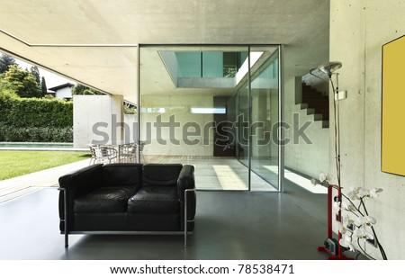 Architecture of Attilio Panzeri, Modern house interior - stock photo