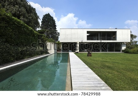 Architecture of Attilio Panzeri, Modern house outdoors - stock photo