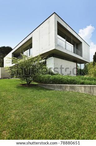 Architecture of Attilio Panzeri, Modern house outdoors - stock photo