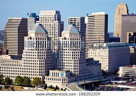 Architecture of Cincinnati, Ohio. - stock photo