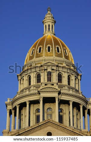 Architecture of Colorado state capital building - stock photo
