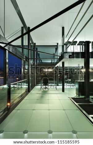 Architecture of De Angelis Mazza, interior, modern design - stock photo