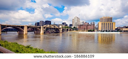 Architecture of Grand Rapids, Michigan, USA. - stock photo