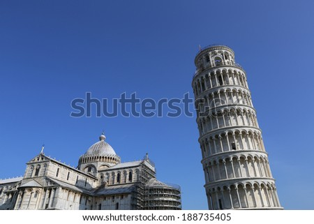 Architecture of Italy. Pisa - city of World Heritage - stock photo