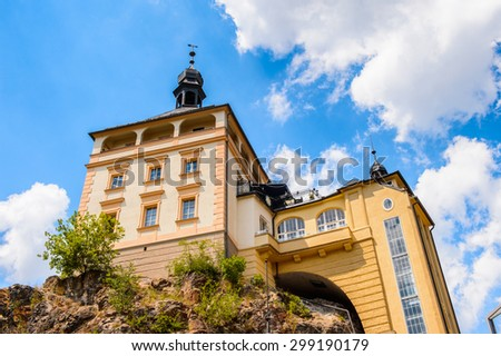 Architecture of Karlovy Vary, Czech Republic.
