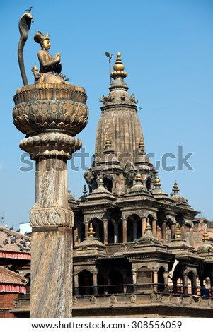 Architecture of Patan, Kathmandu, Nepal - stock photo