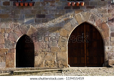 Architecture of Santillana del Mar, Cantabria, Spain