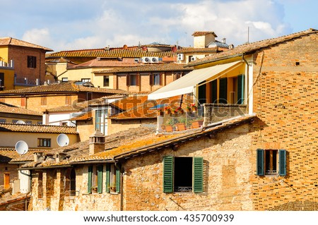 Architecture of the Historic centre of Siena. UNESCO a World Heritage Site