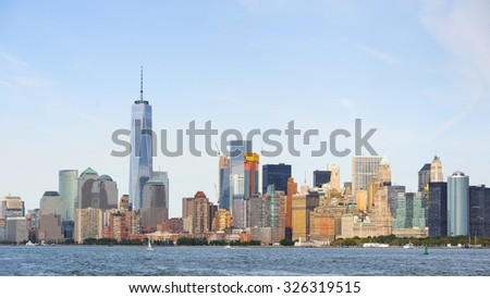 Architecture of the Lower  Manhattan, New York City, United States of America