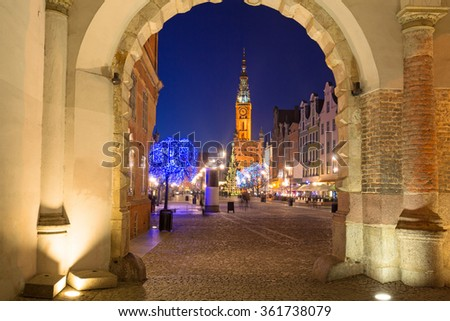 Architecture of the old town in Gdansk, Poland - stock photo