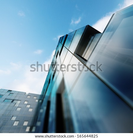 Architecture project. Building design and 3d model my own - stock photo