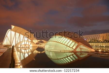 architecture valencia - stock photo