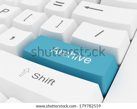 Archive Button - stock photo