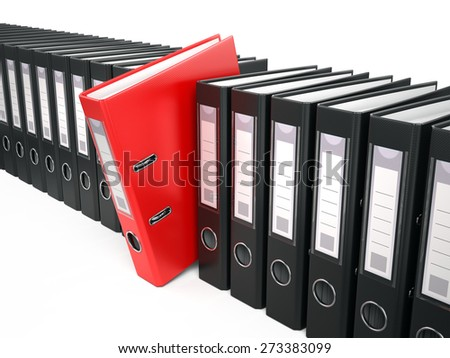 Archive concept - folders on white background - stock photo