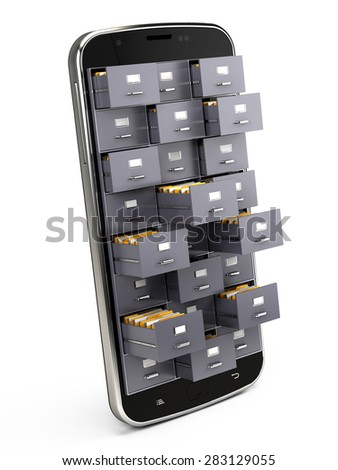 Archive database concept - stock photo