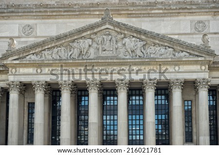 archives of USA building in Washington DC - stock photo