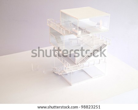 arcitectural housing model,japanese style - stock photo