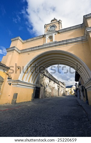 Arco de Santa Catalina in Antigua - stock photo