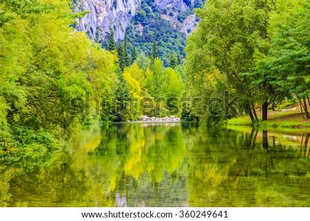 Arco River, Trentino, Italy - stock photo