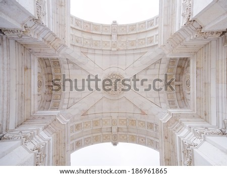 Arco Rua Augusta in Lisbon, Portugal - stock photo