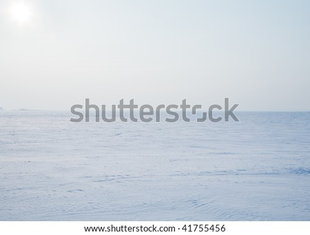 Arctic desert, where it ends at the northern - stock photo