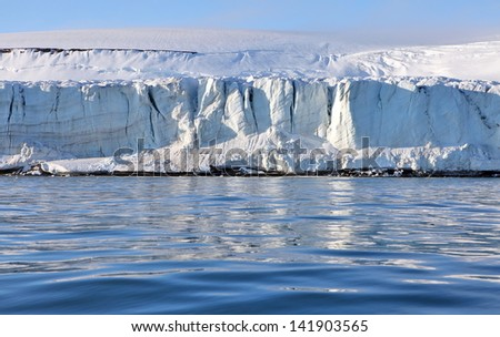 Arctic glacier  - stock photo