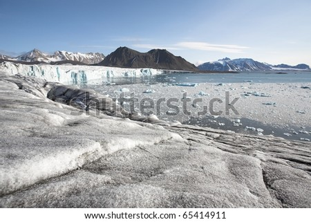 Arctic glacier landscape - stock photo